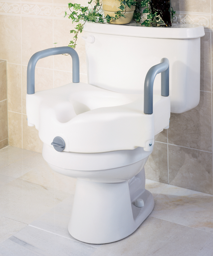 Medline Locking Toilet Seat Riser With Arms