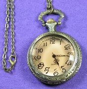 Amber-Colored Pocket Watch