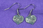 Heart Music Notes Earrings