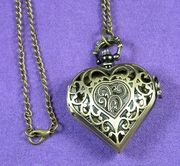 Heart Pocket Watch Gold-Toned
