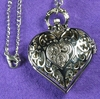 Heart Pocket Watch Silver-Toned