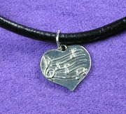 Music Notes-Heart Necklace