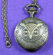 Owl Pocket Watch Large