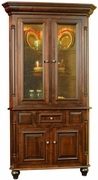 European 2 Door Corner Hutch