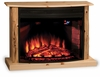 Knotty Pine LED Fireplace