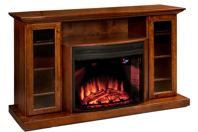 amish fireplace tv stand amish finsbury park 51 quot electri