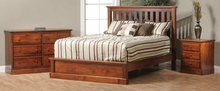 Traditional Low Footboard Slat Bed