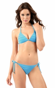 Aquarius Envy Push Up Pleated String Bikini Top