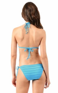Aquarius Pleated String Bikini Bottom