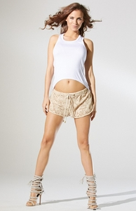 Cream Crochet Short