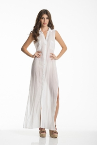 Eden Hues White Maxi Dress