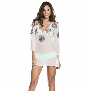 Hand Embroidered Tunic in White