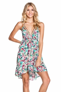 Hawaiian Bloom Wrap Around Dress