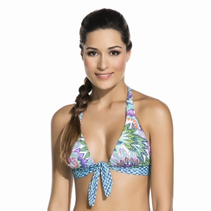 Knot Tie Embroidered Halter