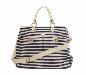 Navy Sailor Stripes Weekender Bag