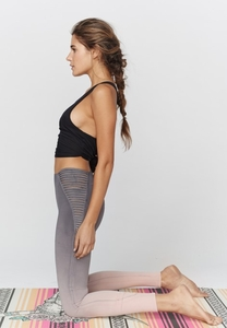 Ombre Strappy High Waisted Legging