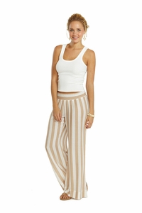 Resort Pant in Harbour Stripe Nude