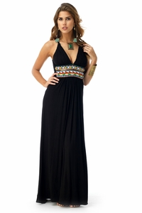 Spiro Maxi Dress in Black