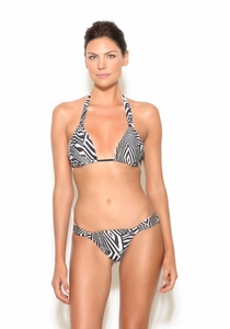 Zebra Print Full Coverage Bikini Bottom