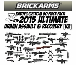 BrickArms B.A. Toys 50 Piece ULTIMATE Urban Assault & Recovery Pack [2015 V2 Update!]
