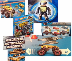 Hot Wheels Mega Bloks Set #91712 Hot Wheels Super Blitzen Monster Truck [Yellow]