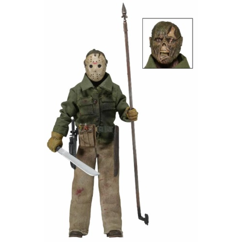 Jason Part 6 Friday the 13th NECA 8 inch clothed figure with removable mask.