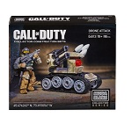 Mega Bloks Call of Duty official figure crouching with minifig weapon sniper rifle, battle rifle, cod call of duty building block brick figure sets.