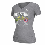 adidas Women's 2014 MLS All-Star Game Dueling Tee - Grey