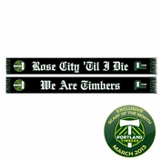 Portland Timbers Rose City 'til I Die Scarf - Black<br><b><i>Exclusive Scarf of the Month: March 2013</b></i>