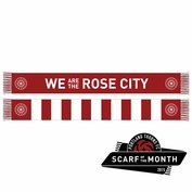 <b>Limited Edition</b> - Portland Thorns FC Rose City Bar Scarf - Red/White <br><b><i>Exclusive Scarf Of The Month: July 2015</i></b>