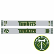<b>Limited Edition</b> - Portland Timbers Ruffneck 1980's Wordmark Scarf - Grey/Green <br><b><i>Exclusive Scarf Of The Month: July 2015</i></b>