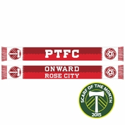 <i>Limited Edition</i> - Portland Timbers Ruffneck Secondary Jersey Inspired Scarf - <i>Exclusive Scarf Of The Month: October 2015</i> - White/Red