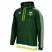 Portalnd Timbers adidas 2015 Authentic Pullover Travel Hoodie - Green