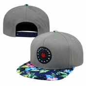 <b><i>Pre-Order: Will ship November 9th</i></b> - Portland Thorns FC Adjustable Floral Snapback - Grey/Floral