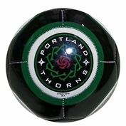 Portland Thorns FC Baden Size 5 Soccer Ball - Black/Green