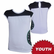 Portland Thorns FC Garb Youth Girls Low Logo Short Sleeve Top - White/Black