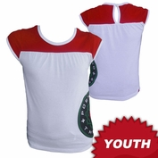 Portland Thorns FC Garb Youth Girls Low Logo Short Sleeve Top - White/Red
