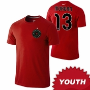 Portland Thorns FC Nike Youth Alex Morgan #13 Replica Tee - Red