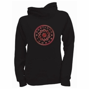 Portland Thorns FC Ouray Women's Foil Logo Asymmetrical Hoodie - Black