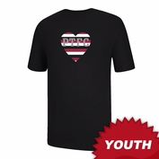 Portland Thorns FC Ouray Youth Heart PTFC Short Sleeve Tee - Black