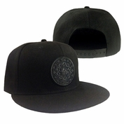 Portland Thorns FC Outsiders Creative Tonal Logo Snapback Cap - Black