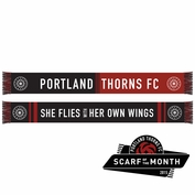 Portland Thorns FC 'She Flies With Her Own Wings' Scarf - Red/Black <br><b><i>Exclusive Scarf of the Month: May 2015</i></b>