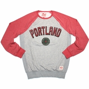 Portland Thorns FC Sportiqe Hawthorne Crew Long Sleeve Shirt - Grey/Red