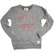 Portland Thorns FC Sportiqe Triblend Fleece Crew Sweatshirt - Grey