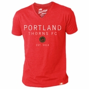 Portland Thorns FC Sportiqe V-Neck Triblend Tee - Red