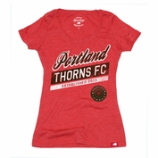 Portland Thorns FC Sportiqe Women's Valley Comfy Scoop Tee - Red