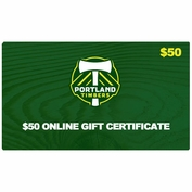 Portland Timbers $50 Online Gift Certificate