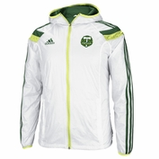 Portland Timbers adidas 2014 Authentic Anthem Jacket with Hood - White