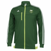 Portland Timbers adidas 2015 Authentic Anthem Full Zip Track Jacket - Green