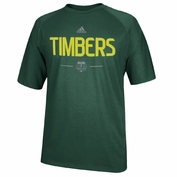 Portland Timbers adidas 2015 Authentic Climalite&reg Short Sleeve Tee - Green